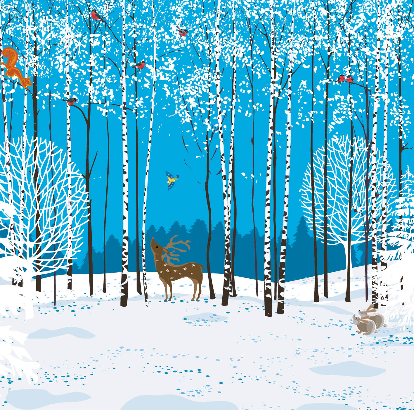 Woodland Creatures - Christmas Card