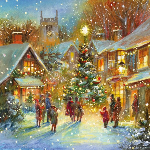 Christmas Card - Village Glow