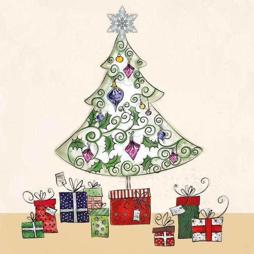 Charity Christmas Card - Gifts Under the Tree