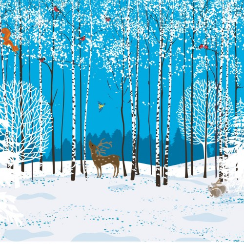 Charity Christmas Card - Woodland Creatures