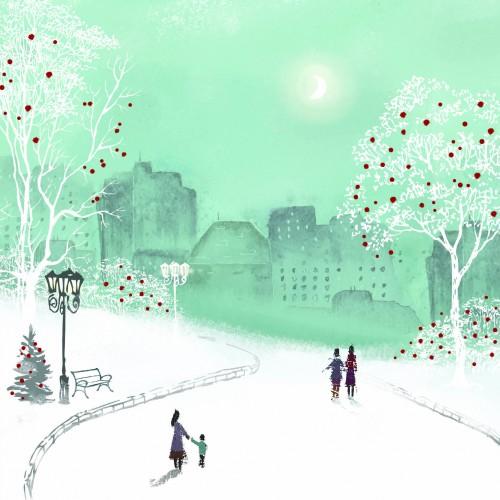 Evening Walk - Christmas Card
