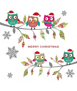 Christmas Card - Christmas Owls