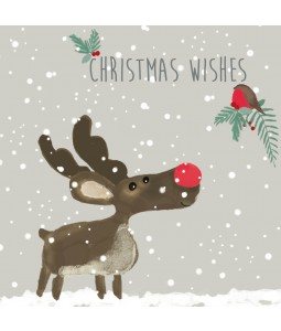 charity christmas card reindeer and robin - Animal Charity Christmas Cards
