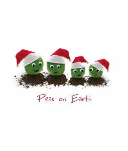 Charity Christmas Card - Peas on Earth