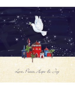 Charity Christmas Card - Festive Dove