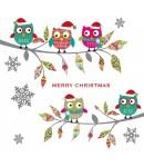 Christmas Card - Christmas Owls