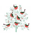 Charity Christmas Card - Robin Tree