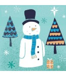 Christmas Card - Snowman with Hat