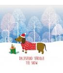 Christmas Card - Dachshund Through the Snow